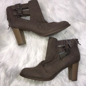Report Perforated Buckle Booties Size 10
